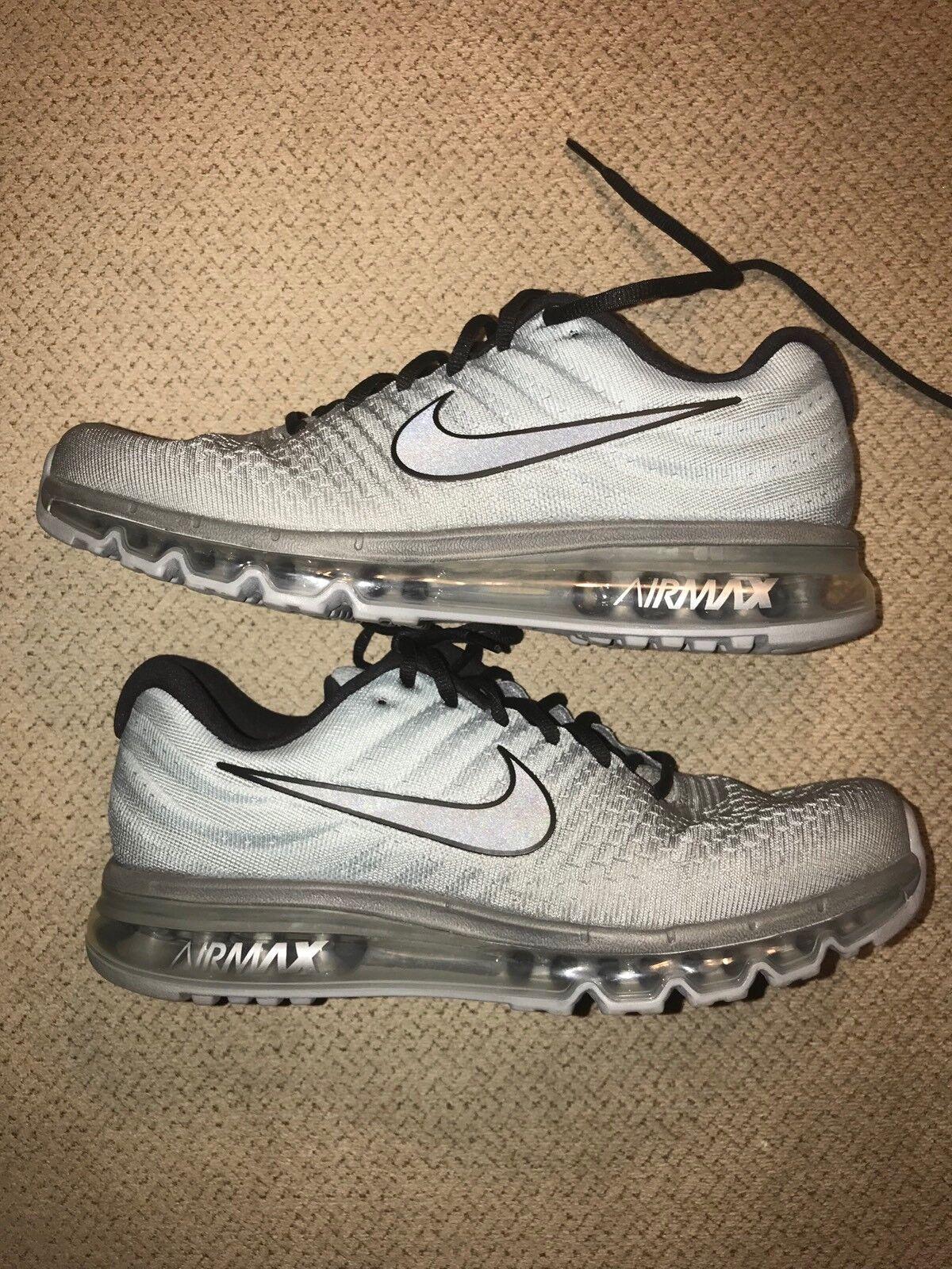 Men's 11 Nike Air Max Tumbled Grey BlackStealth [849559  003] Running