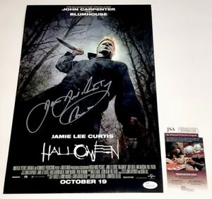 JAMES-JUDE-COURTNEY-Signed-2018-HALLOWEEN-11x17-Photo-Autograph-JSA-COA-PROOF