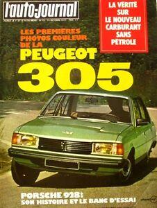 L'auto-journal N°18 -1977-porsche 928-renault 5 Gtl-peugeot 305-carburant