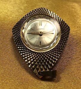 Vintage Lucerno Swiss Made Gold Tone Wind Up Watch Pendant