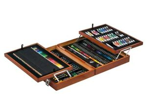 CRELANDO Artists' Paint Box 174 PIECE SET Paints Pencils Watercolour Acrylic Oil