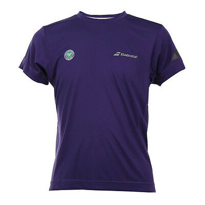 Babolat Boy's Wimbledon Performance T-shirt -- Viola-mostra Il Titolo Originale