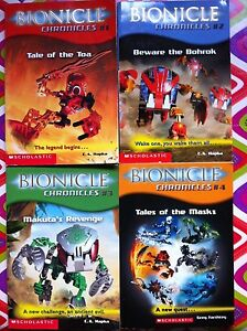 Lot-of-4-Bionicle-Chronicles-1-4-Good-Paperback-We-Combine-Shipping
