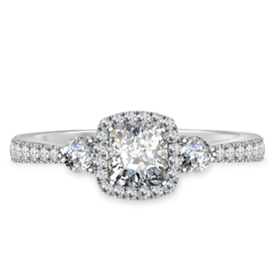 1.50 Ct Cushion Cut Moissanite Anniversary Ring 14K Solid White Gold ring Size 6