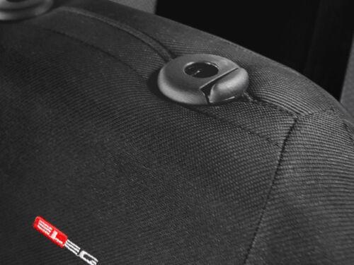2 X cubiertas de asiento de coche par de asientos delanteros de ajuste SKODA FABIA Gris Carbón//Rojo