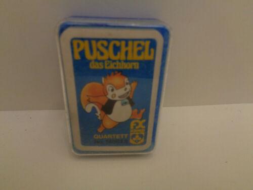 unbespielt Rarität Vintage QUARTETT PUSCHEL DAS EINHORN von  FX Schmid  80er J