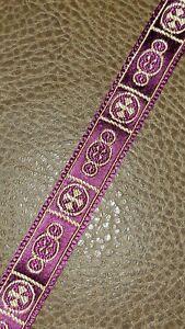 Vintage-Vestment-Sastreria-Galloon-Borde-Dorado-Cruz-en-Violeta-1-6cm-Ancho-14