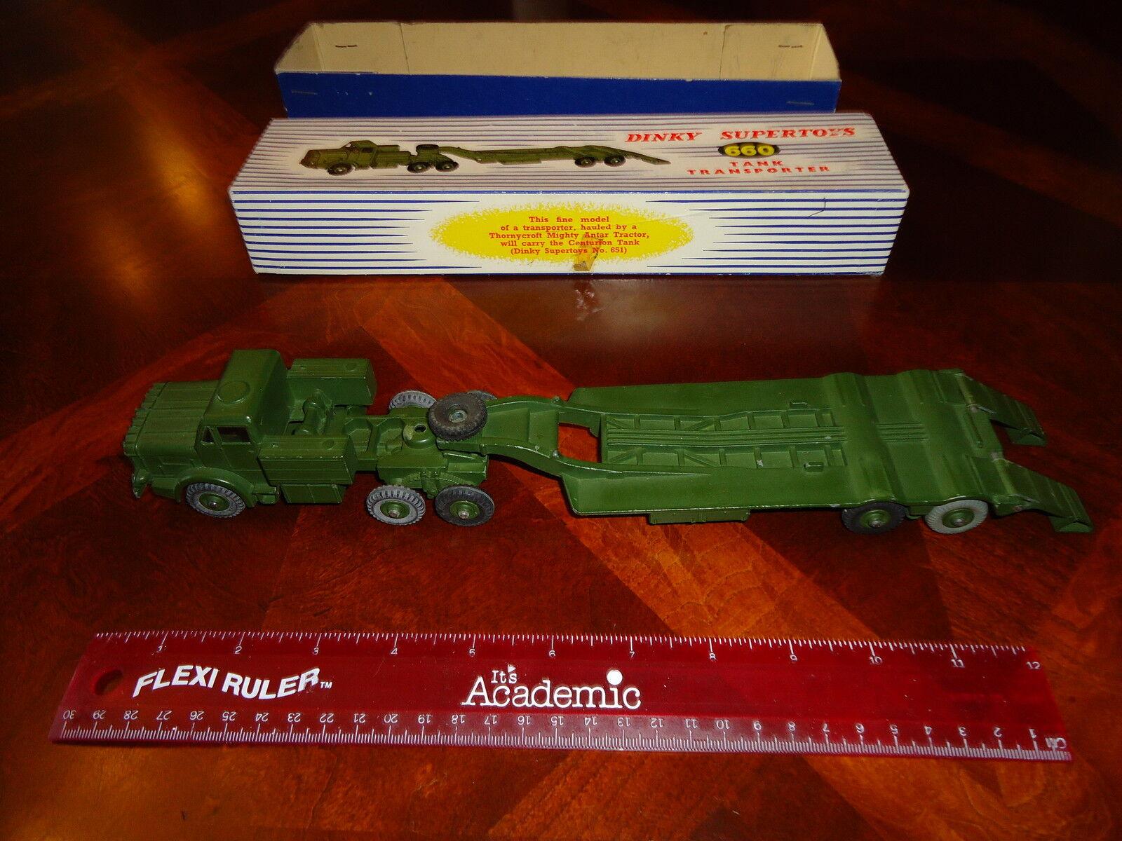 marcas de moda Vintage Meccano Dinky Dinky Dinky Juguetes  660 Transportador De Tanque Militar Con Original Caja V G  muy popular