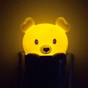Lovely-Bear-LED-Auto-Light-Sensor-Nightlight-Lamp-Home-Room-Decor-USA