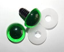 nach EN 71-3 Sicherheitsaugen 3 PAAR GRÜN mit Pupille 16 mm aus Kunststoff