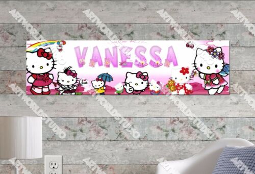 Personalized//Customized Hello Kitty #1 Name Poster Wall Art Decoration Banner