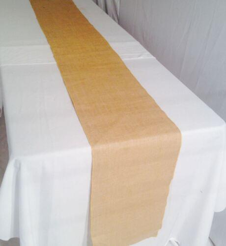"10 pack Burlap Table Runner 14/"" x 72/"" 100/% JUTE BURLAP TABLE DECOR WEDDING"