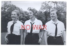 Wwii Original German War Photo Girls From Youth Organisation Bdm