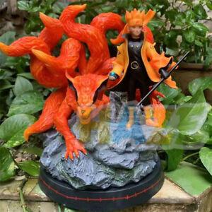 Naruto-Uzumaki-Naruto-Nine-Devil-Fox-10-034-Figura-de-accion-Estatua-Juguete-Nuevo