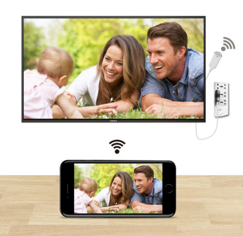 WiFi HDMI Cable HDTV Adapter Airplay Miracast to TV for iPhone iPad Ios Android