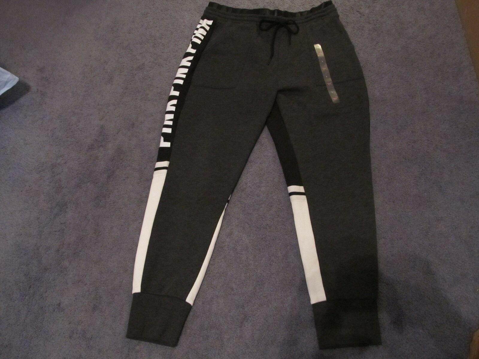 NWT VICTORIA'S SECRET PINK HIGH WAIST SKINNY JOGGER LARGE