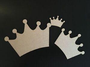 Wooden-MDF-Crown-Blank-Plaque-Embellishments-Craft-Decoupage-Laser-Cut-5-sizes