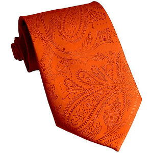Details about  /New Men/'s Polyester Woven Neck Tie necktie only red paisley prom wedding