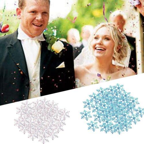 300pcs Holiday Party Home Decor Christmas Classic Shiny Tree Snowflake Orna O1B5