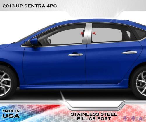 Stainless Steel Pillar Post Trim 4PC For Nissan Sentra 4 Door 2013-2015
