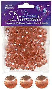 12-Mm-or-Rose-Table-Scatter-Cristaux-Diamants-Confettis-Mariage-Partie-Decoration