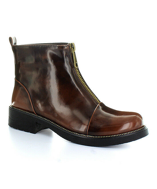 Electric Karma Women's Brown Ally Fashion Ankle Round Toe Boots
