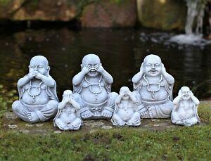3 Wise Happy Garden Buddha Ornaments Decor Hear No See No Speak No Evil 3 Ebay