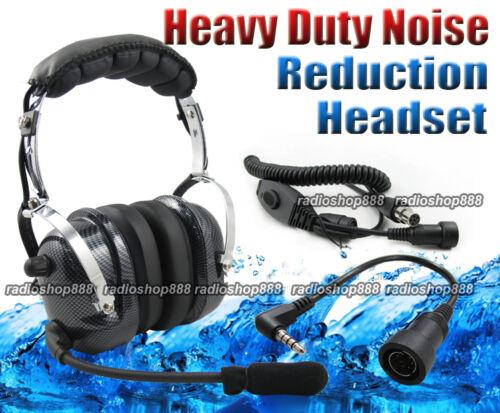 4-081 44-y  Heavy duty Noise Cancelling Headset for YAESU VX-3R FT-60R