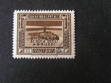 *ITALIAN SOMALILAND, SCOTT # 156, 10c. VALUE  SCENES OVERPRINTED ISSUE USED