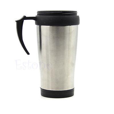 500ML Stainless Steel ABS Mug Travel Tumbler Coffee Tea Cup New