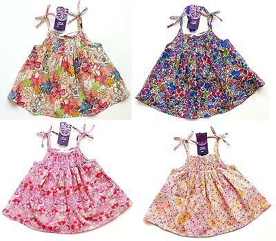 Liberty Art Imprimé Zara Rose Paisley Fleur Lanières Tunique Blouse Top 0-12 M £ 29.99