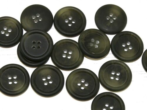 Dill redondo con borde 4 Agujero Plástico Botones Eneldo - 260922-M
