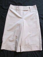 Women's Ann Taylor Loft Beige Dress Capris (cropped Pants) Stretch Size 8