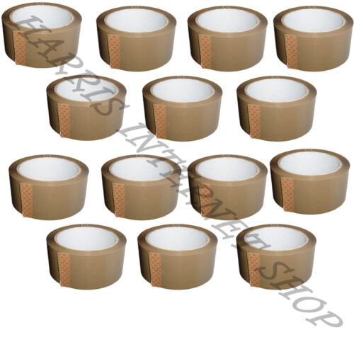 1,2,6,12,18,24,36,72 ROLLS OF BROWN BUFF 48mm x 66M PARCEL PACKING ADHESIVE TAPE
