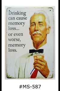 Tin Sign Funny Alcohol Beer Memory Loss Drinking Quotes ...