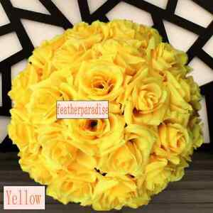11 12 Inches Yellow Rose Flower Ball Wedding Decoratin Ball Kissing