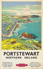 Portstewart Travel Poster Northern Ireland Wall Art Print 61 x 38 cm