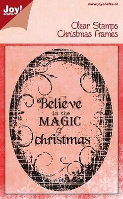 Joy Crafts Clear Rubber Stamp Set Frames BELIEVE IN MAGIC OF CHRISTMAS 6410/0116
