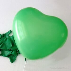 12-inch-100x-Green-Color-Heart-Latex-Thick-Party-Balloons-3-2g-Helium-Floating