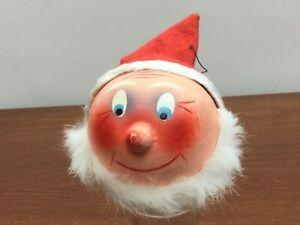 Vintage-1950-039-s-W-German-Paper-Mache-Santa-Elf-Gnome-Candy-Container-Head