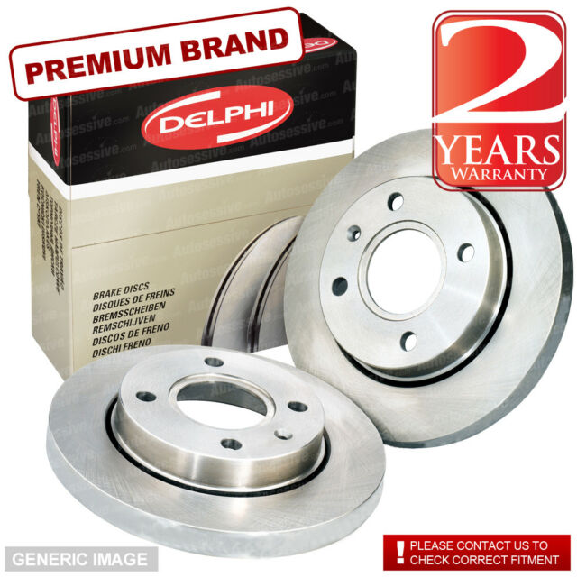 Rear Delphi Brake Discs 240mm ø Solid Pair - Replacement Axle Set BG3403