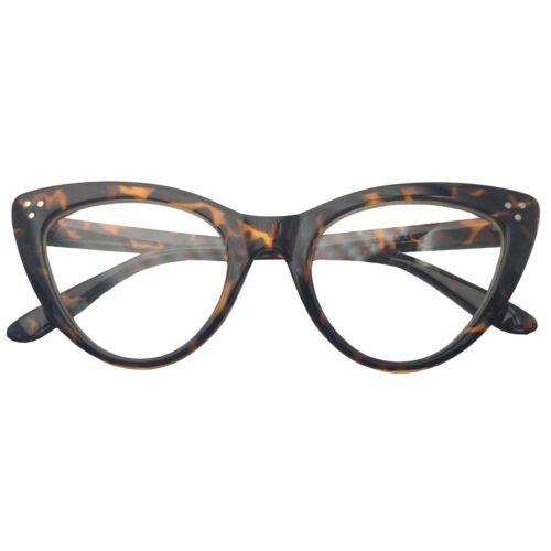 Super Cat Eye Glasses Vintage Inspired Fashion Mod Clear Lens Eyewear Large New