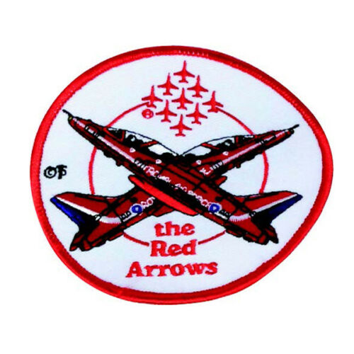 Royal Air Force Raf Flechas Rojas Insignia Bordado Blanco