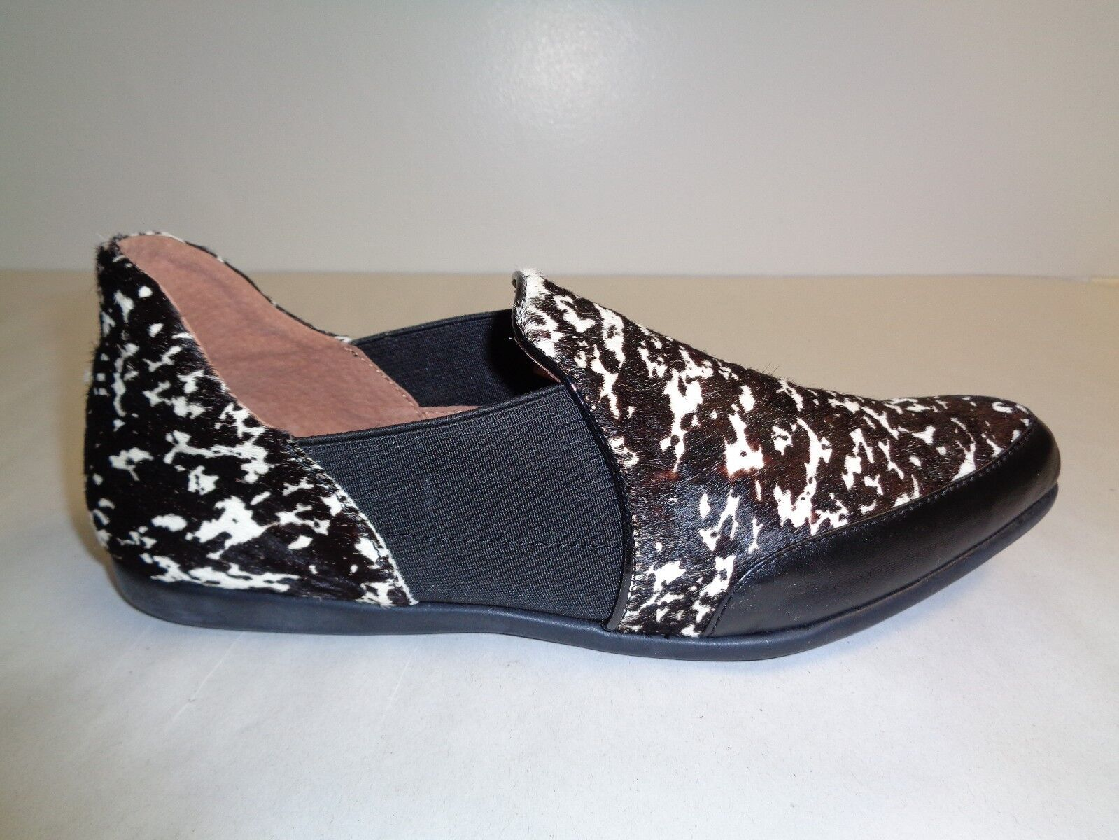 Adrianna Papell Size 7 M LOLA Black Persian Haircalf Flats New Womens shoes