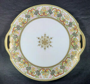 Antique-RC-Royal-Crockery-Nippon-Japan-Plate-Handled-Asian-Porcelain-Early-1900s