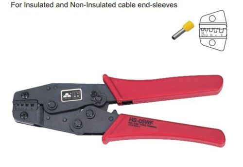 Insulated and Non-insulated Ferrules Ratchet Plier Crimper 0.5-6mm2 AWG20-10