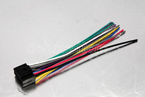 s l300 kenwood car radio 16 pin wiring harness adaptor loom ebay wiring harness loom at bakdesigns.co