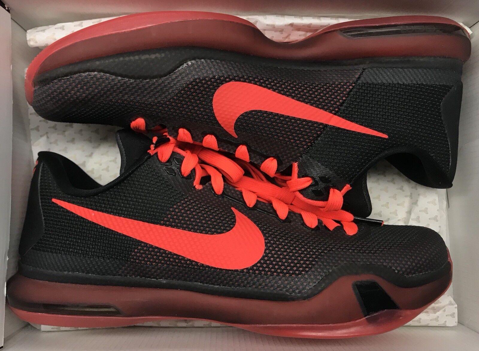 Nike Kobe X 10 Low Black Bright Crimson Anthracite Red IV V 1 I 705317-060 Sz 10