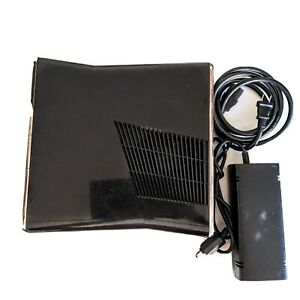 Microsoft Xbox 360 S Slim Console & Power Cable Sold As Is Parts/Repairs Only