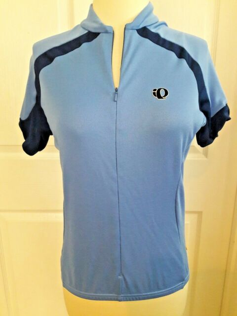 IQ Pearl Izumi top shirt women's Jersey bicycle medium blue cycling short sleeve